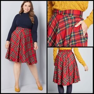 Modcloth plaid midi skirt size 1X